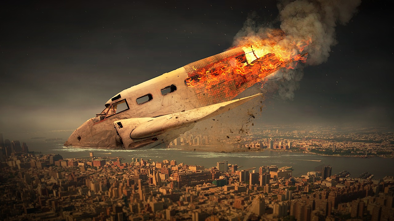 mimpi pesawat tabrakan